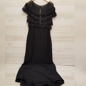 {12} Vintage Angela Sanchez Black Evening Dress